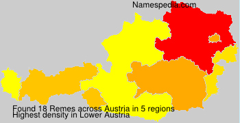 Surname Remes in Austria