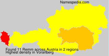 Familiennamen Remm - Austria