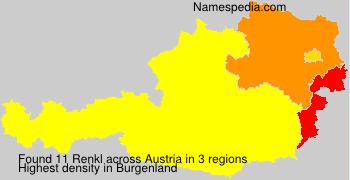 Surname Renkl in Austria