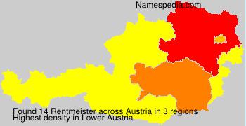 Familiennamen Rentmeister - Austria