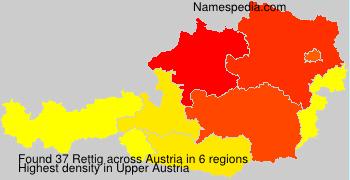 Familiennamen Rettig - Austria