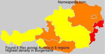 Familiennamen Rex - Austria