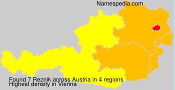 Familiennamen Reznik - Austria