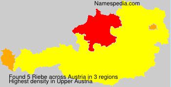 Surname Riebe in Austria