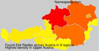 Surname Riedler in Austria