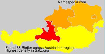 Familiennamen Riefler - Austria