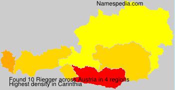 Surname Riegger in Austria