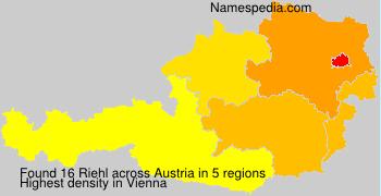 Surname Riehl in Austria