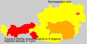 Surname Riehle in Austria