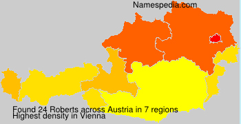 Surname Roberts in Austria