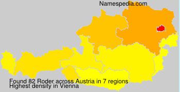 Surname Roder in Austria