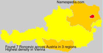 Familiennamen Roncevic - Austria