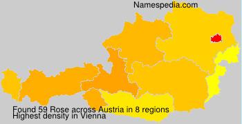 Familiennamen Rose - Austria