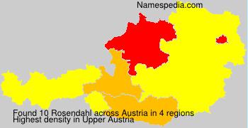 Surname Rosendahl in Austria