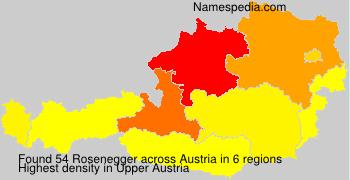 Surname Rosenegger in Austria