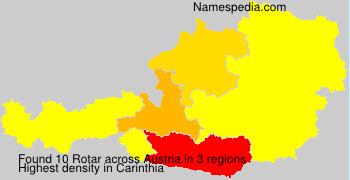 Surname Rotar in Austria