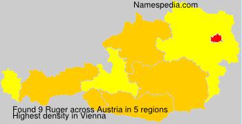 Surname Ruger in Austria
