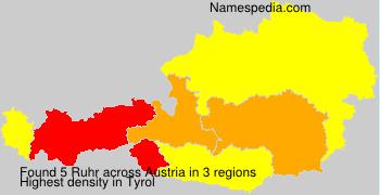 Surname Ruhr in Austria