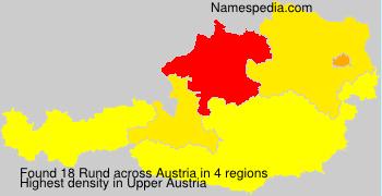 Surname Rund in Austria