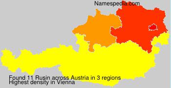 Surname Rusin in Austria