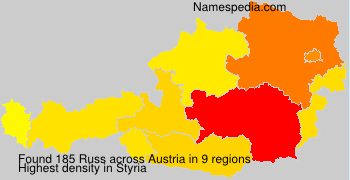 Familiennamen Russ - Austria