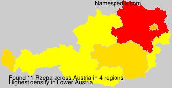 Familiennamen Rzepa - Austria
