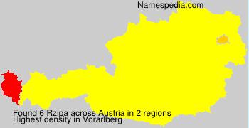 Surname Rzipa in Austria