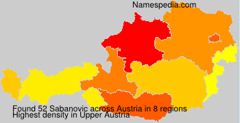 Surname Sabanovic in Austria