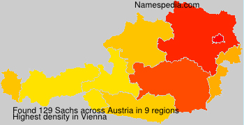 Familiennamen Sachs - Austria