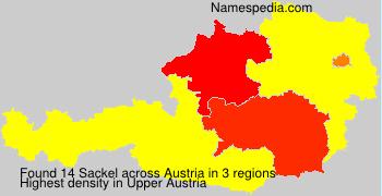 Surname Sackel in Austria