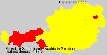 Familiennamen Sader - Austria