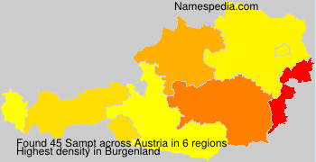 Familiennamen Sampt - Austria
