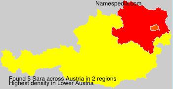 Familiennamen Sara - Austria