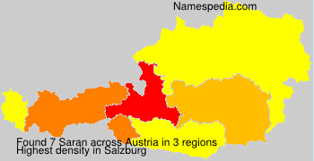 Surname Saran in Austria