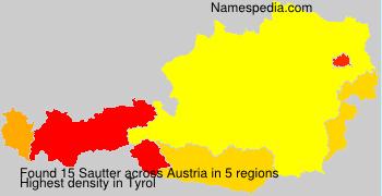 Familiennamen Sautter - Austria