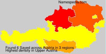 Surname Sayed in Austria