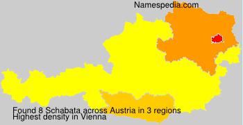 Familiennamen Schabata - Austria