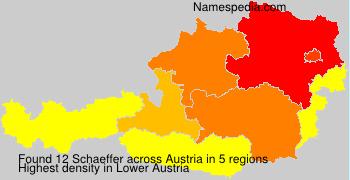 Surname Schaeffer in Austria