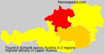 Surname Schardt in Austria