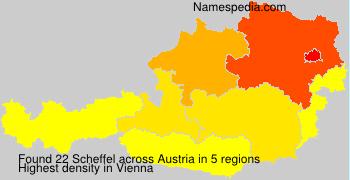 Familiennamen Scheffel - Austria