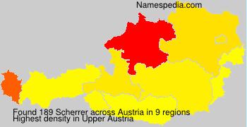 Surname Scherrer in Austria