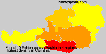 Surname Schien in Austria