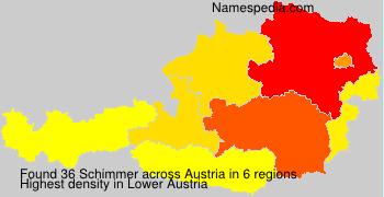 Surname Schimmer in Austria