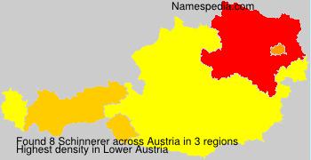 Surname Schinnerer in Austria