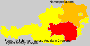 Surname Schirmann in Austria