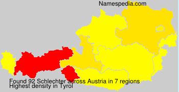 Surname Schlechter in Austria
