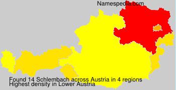 Surname Schlembach in Austria