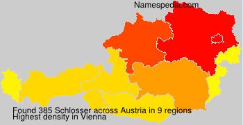 Surname Schlosser in Austria