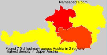 Surname Schluslmayr in Austria