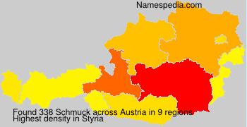 Familiennamen Schmuck - Austria